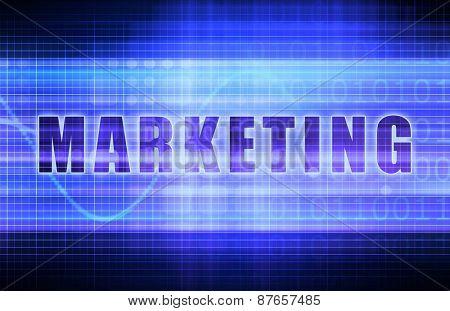Marketing on a Tech Business Chart Art