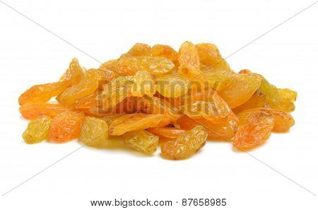 Raisins Isolated On A White Background