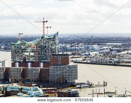 Elbe Philharmonic Hall Under Construction