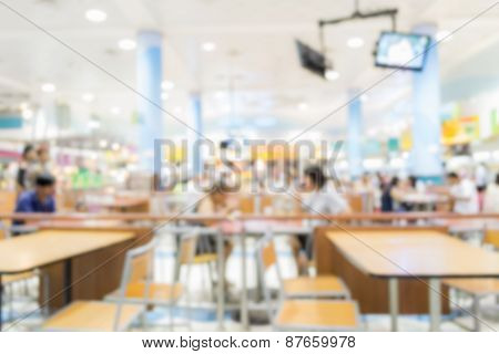 Blurred People In The Food Court
