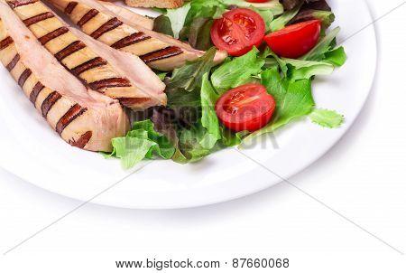 Beautiful caesar salad.
