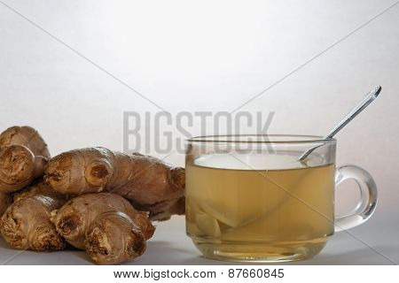 Ginger Juice Fresh In A Glass Cup