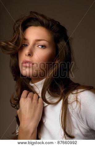 Woman In Knitwear