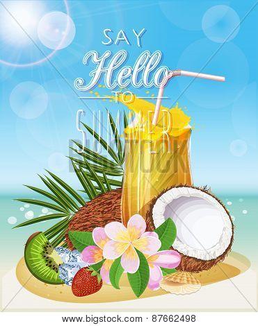 Summer holidays illustration.