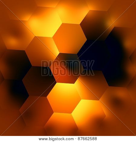 Abstract hexagonal background. Glowing light effect. Beautiful modern backgrounds. Soft mosaic.