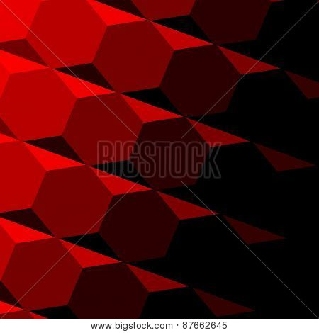Abstract red geometric texture. Dark shadow. Technology background pattern. Repeatable design.