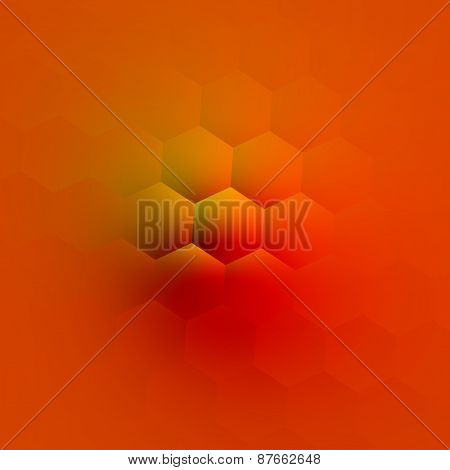 Orange fantasy bump. Abstract geometric background. Creative 3d illustration. Modern art design.