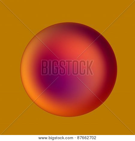 Human red blood cell illustration. Abstract 3d render. Medicine background. Modern medical icon.