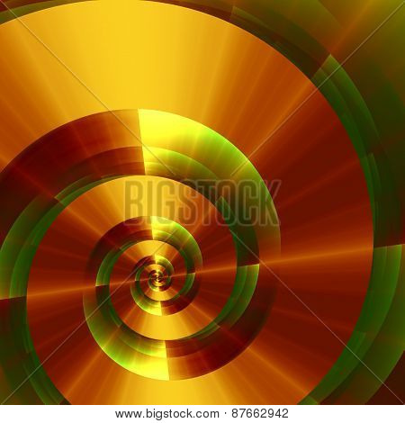 Metallic fantasy spiral. Abstract digital background. Creative 3d texture. Modern fractal design.