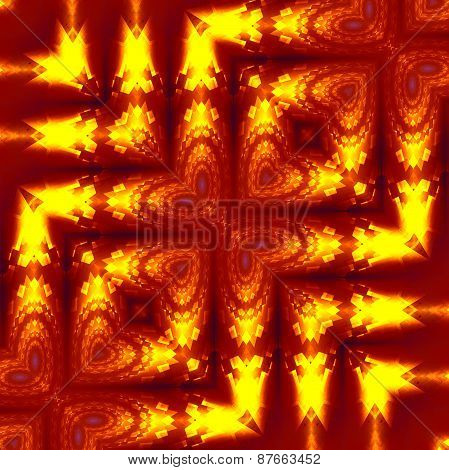 Unique weird fractal distortions. Abstract geometric background pattern. Creative optical effect.