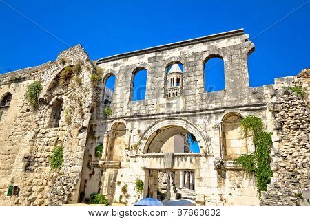 Ruins Of Historic City Of Split