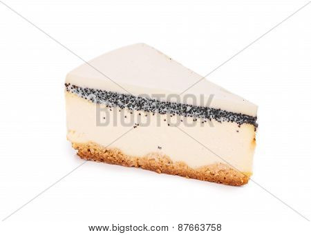 Piece of vanilla cheesecake.