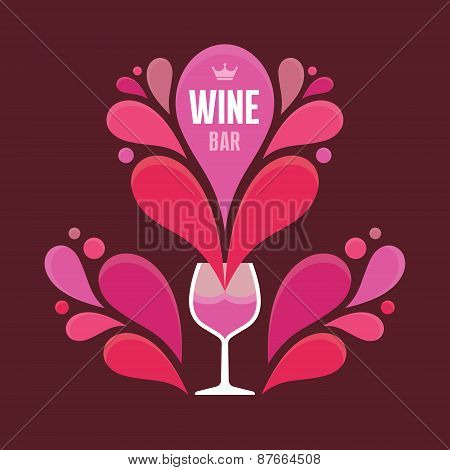 wine, background, decoration, winery, bar, prints, brown, drink, vector, sign, showcase, list, symbo