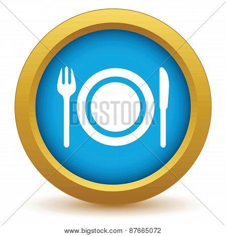 Gold dinner icon