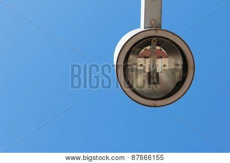 Modern Street Lantern With Blue Sky In Background
