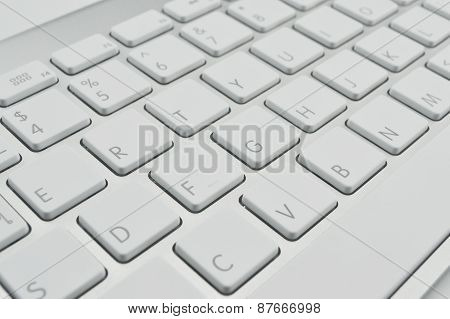 Close Up Of Keyboard Of A Modern Laptop