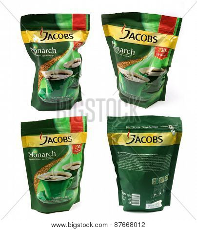 Kiev, Ukraine - Apl. 10, 2015: Package of coffee Jacobs