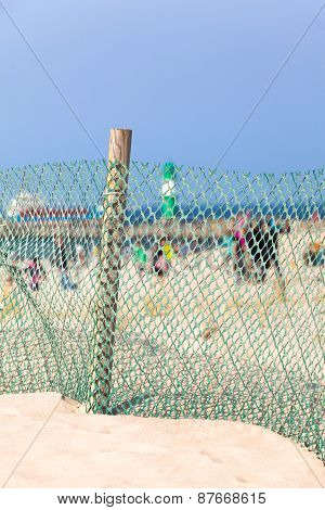 Windbreak Fence at the Beach