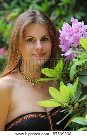 beautiful young girl in park