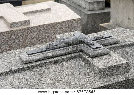 France, Old Tomb In Les Mureaux Cemetary