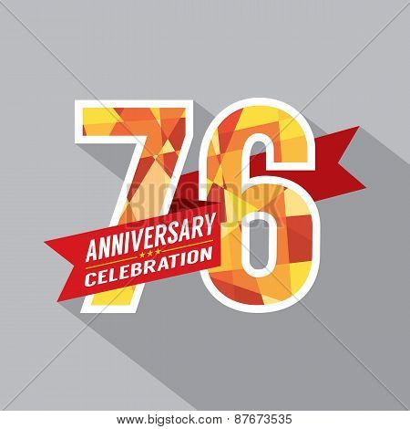 76Th Years Anniversary Celebration Design.