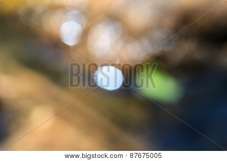 Abstract Twinkled Bright Background With Bokeh Defocused Golden Lights