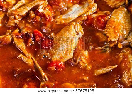 Stewed Chicken In Tomato Sauce