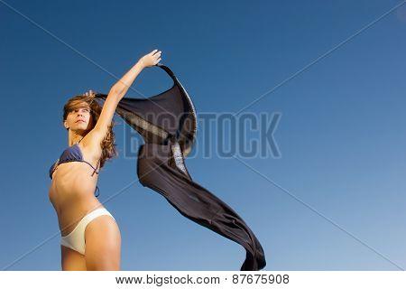 Beautiful Young Girl Dancing