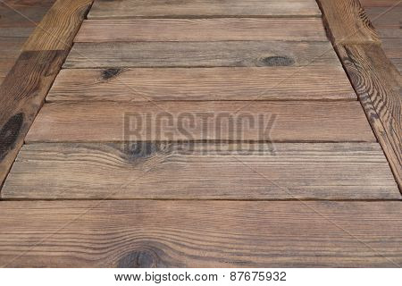 Perspective Of Rustic Wood Planks Or Table Or Floor