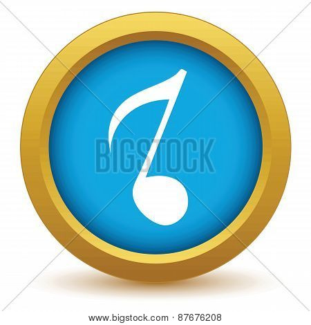 Gold musical note icon