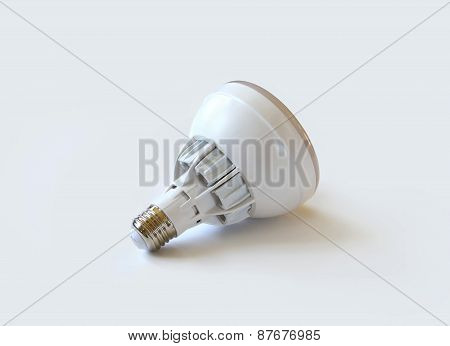 Led Light Bulb On White Background