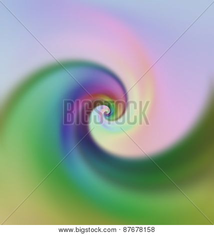 Abstract Iridescent Wave.