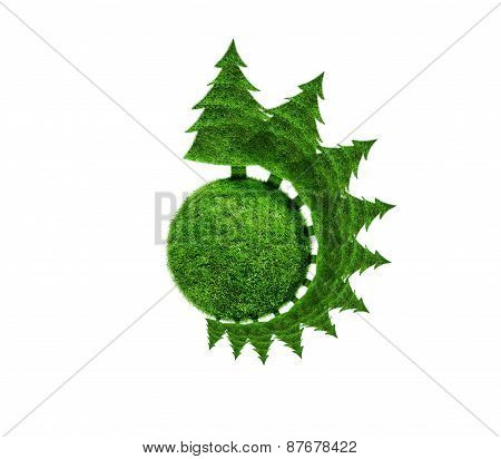 Planet With Fir Trees