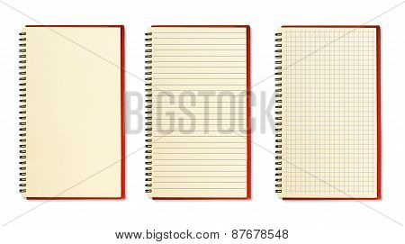 Three Blank Notebooks