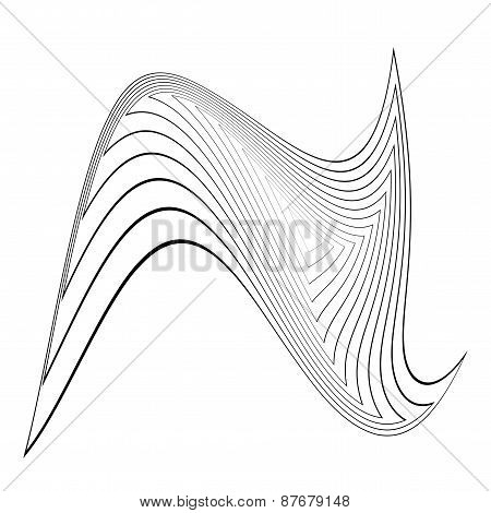 Design Monochrome Triangle Movement Illusion Background