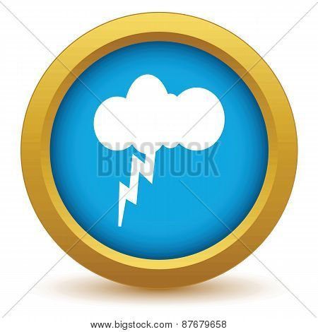 Gold storm icon
