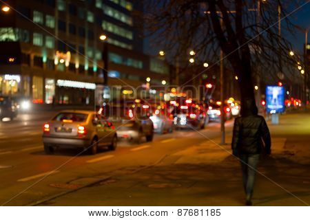 Street Trafic Lights As Background