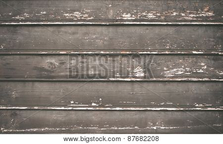 Old Rustic Painted Cracky Dark Wooden Texture