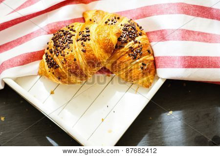 Traditional Breakfast With Croissant