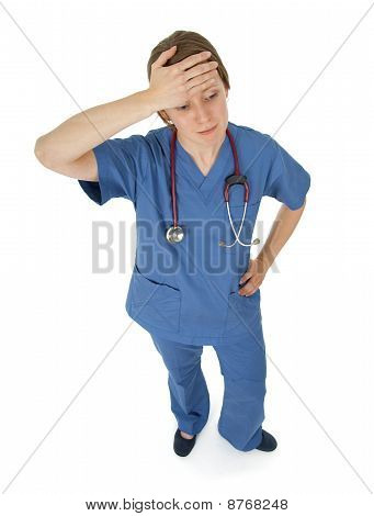 Tired Young Nurse