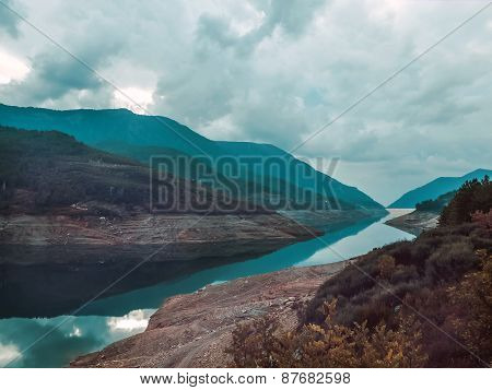 The View Over The Man-made Lake On The River Dim Cay In The Taurus Mountains Side Near Alanya