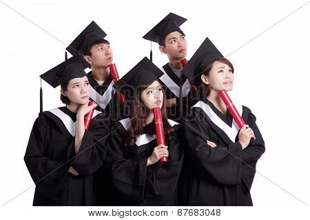 Group Of Graduates Student Think