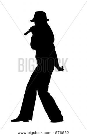 Singing Woman Silhouette