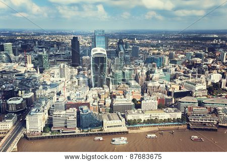 City of London and sunny day