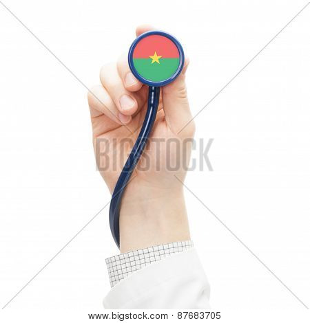 Stethoscope With National Flag Series - Burkina Faso