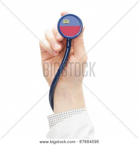 Stethoscope With National Flag Series - Liechtenstein