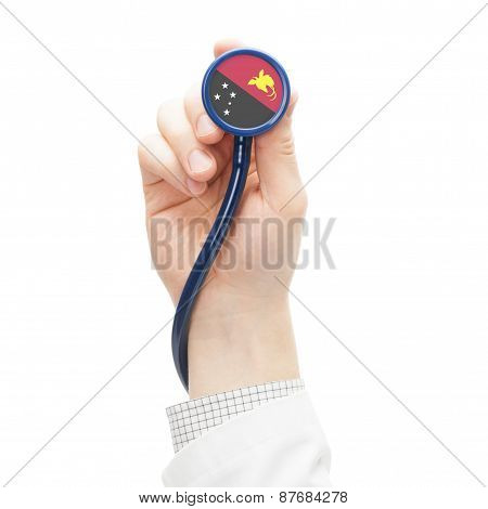 Stethoscope With National Flag Series - Papua New Guinea