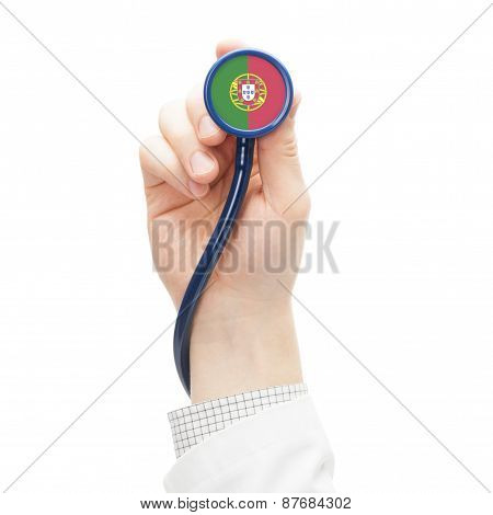 Stethoscope With National Flag Series - Portugal