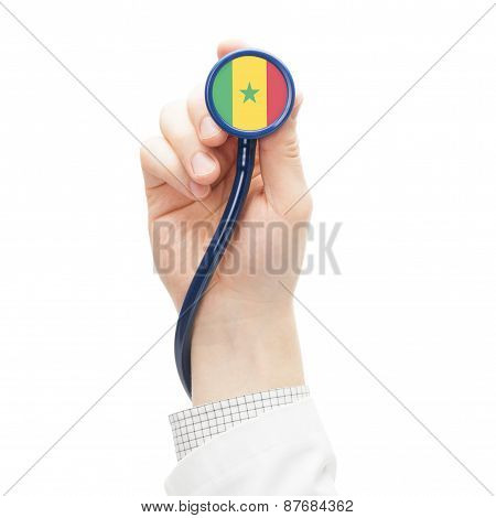 Stethoscope With National Flag Series - Senegal