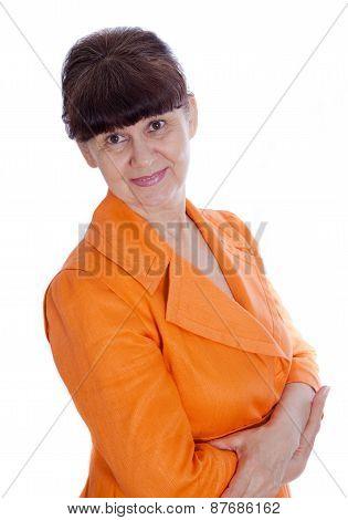 Good looking mature business woman portrait